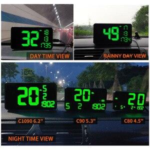 Image 5 - Prędkościomierz GPS C60 wyświetlacz samochodowy HUD KM/h MPH chiny tanie C80 elektronika samochodowa wyświetlacz prędkości C90 C1090 duży ekran A100 Hud