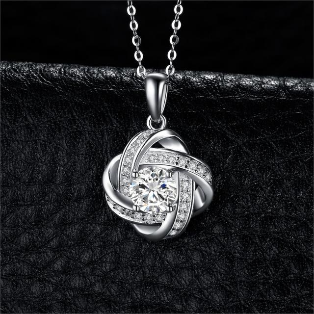 Love Knot Sterling Silver Pendant
