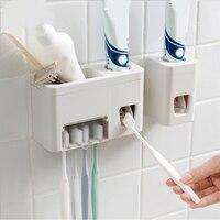 Автоматический Дозатор зубной пасты полка Ванная комната Зубная щётка держатели дозатор зубной пасты туалетные принадлежности стеллаж дл...