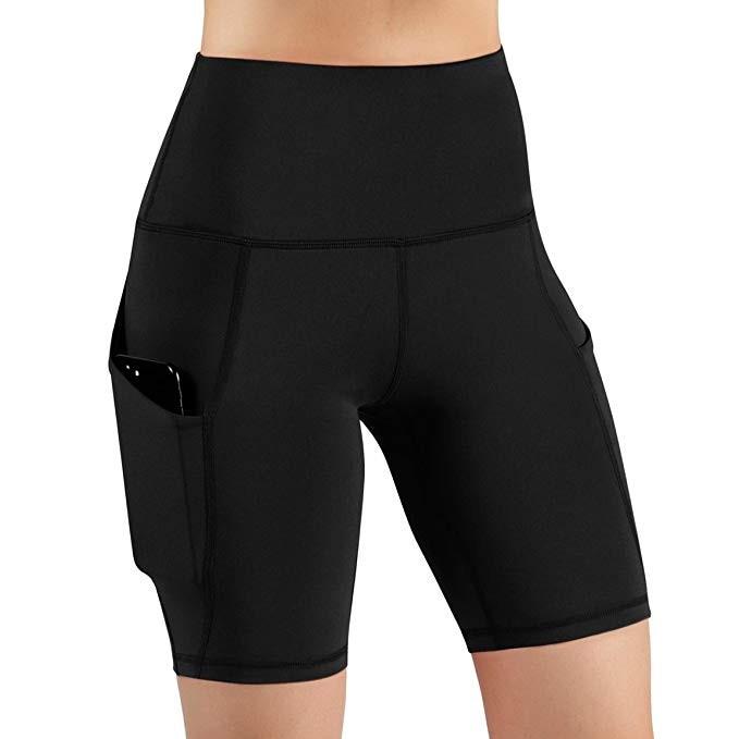 Women High Waist Out Pocket Yoga Short Running Athletic Yoga Shorts Pants Gym Leggings Leggings Sport Women Fitness