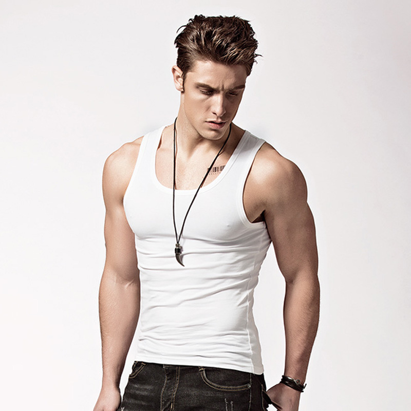3Pcs Men's Cotton Sleeveless Undershirt Gym Tank Top Male Fitness Shirts Male Bodybuilding Underwear Vest Factory Outlet