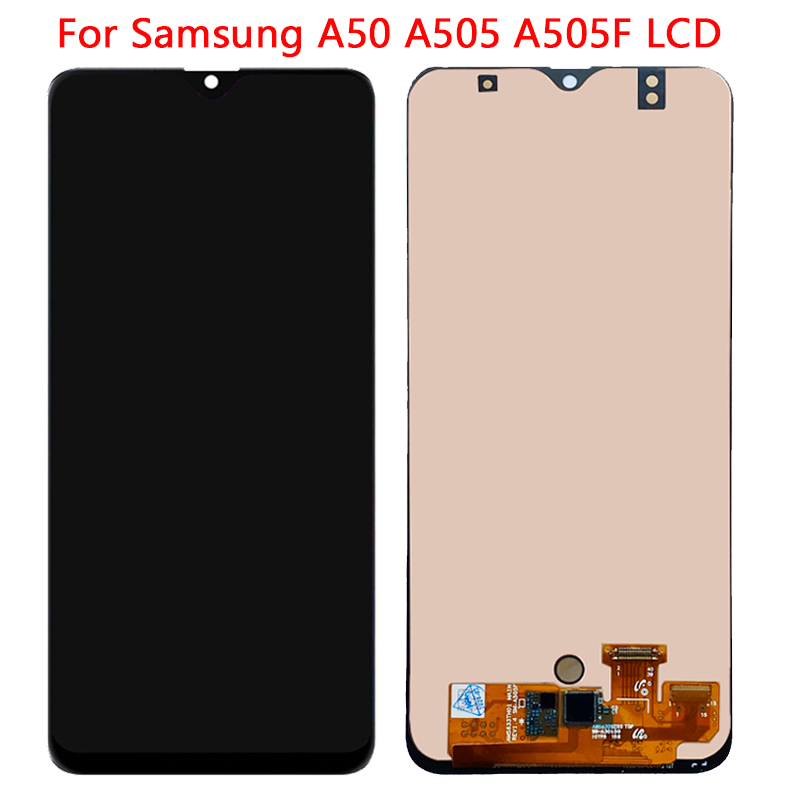 SUPER AMOLED <font><b>A50</b></font> Display For <font><b>Samsung</b></font> <font><b>A50</b></font> <font><b>LCD</b></font> Display Touch Screen With Frame Digitizer Assembly For SM-<font><b>A50</b></font> A505 A505F <font><b>LCD</b></font> Repair image
