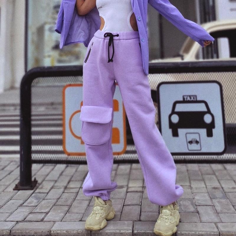 SHENGPALAE 2019 nouveau automne hiver personnalité poche décoration lâche velours pantalon Chalaza femme hiver épaississement pantalon A619