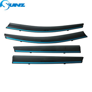 Image 2 - Smoke Side Window Deflectors For VW Tharu 2018 2019 2020 Window Visor Vent Shades Sun Rain Deflector Guard SUNZ