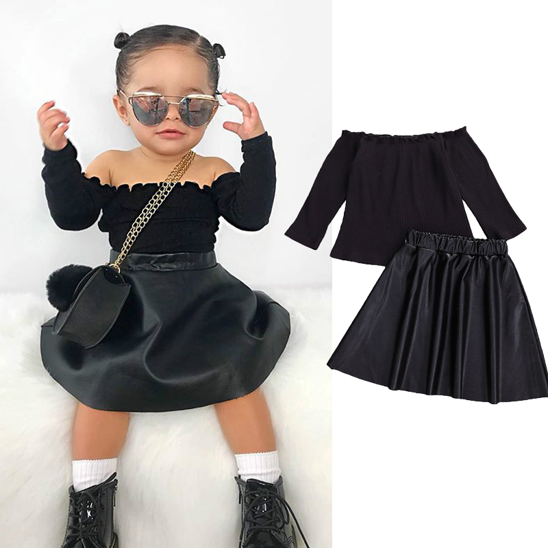 Clothing Sets 2PCS Toddler Baby Girls Skirt Sets Solid Color Long Sleeve  Knit Sweater Tops+PU Leather Skirts Dresses Outfits Clothing, Shoes &  Jewelry belasidevelopers.co.ke