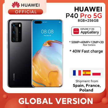 Глобальная версия Huawei P40 Pro 8G 256G Kirin 990 5G восьмиядерный смартфон с тройной камерой 6,58 ''экран SuperCharge 40W дюймGALKINSALEдюйм-45000₽ off 4000₽ ON 11.11