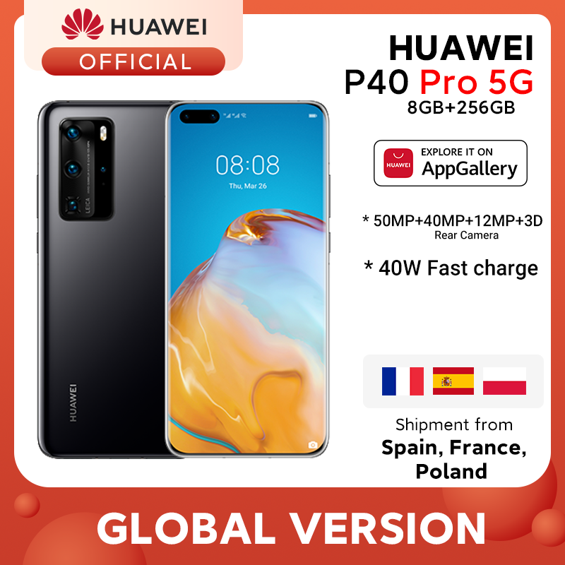 In stock Global version Huawei P40 Pro 8G 256G Kirin 990 5G Octa Core Smartphone Triple Camera 6.58'' SuperCharge 40W|Cellphones| - AliExpress