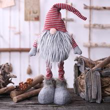 new Hot Sale Christmas Cute Gnome Faceless Doll Plush Toy Hanging Pendant Tree Window Decor Gnome Doll Cute Hanging Toy new year 3pcs cute christmas faceless gnome doll nice appearance rattan ring pendant cute home window hanging xmas decoration