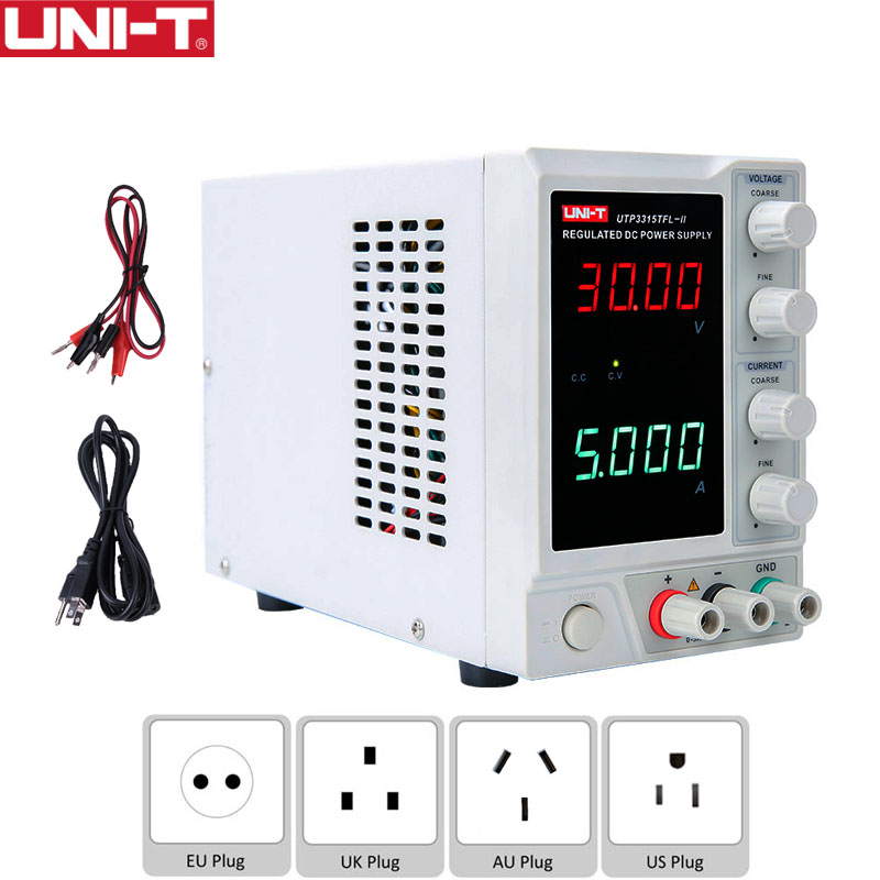 UNI-T UTP3315TFL-II Linear DC <font><b>Power</b></font> <font><b>Supply</b></font> <font><b>30V</b></font> <font><b>5A</b></font> Single-channel Voltage Current <font><b>Adjustable</b></font> Electronics DIY Benchtop <font><b>Power</b></font> Meter image