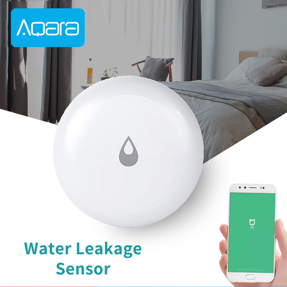 Original Aqara Water Leakage Sensor Flood Security Alarm Detector Zigbee Wireless Water Leak Detection Smart Home Accessories
