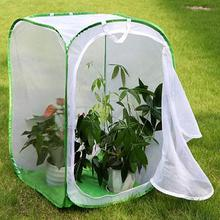 Foldable Plant Insect Cage Butterfly Habitat Mesh Transparent Portable  Mesh Cage With Clear Window Panel For Easy Viewing Farm