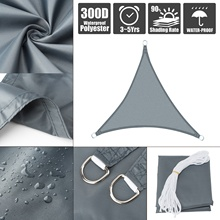 Waterproof Sun Shade triangle Sail Greenhouse Canopy Outdoor Pool Patio Camping Cloth Garden Oxford Awning