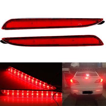 Niscarda 2pcs LED Rear Bumper Reflector Light Red Car Driving DRL Fog Trim Molding Tail Lamp For Mazda 3 Axela 2010 - 2013 image