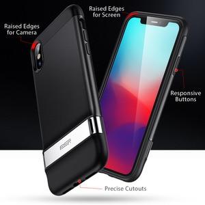 Image 3 - Esr caso para iphone xr x xs max se2 8 7 plus caso de metal kickstand vertical horizontal suporte pára choques capa para iphone se 2020 xs x