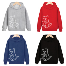 Sweater Toddler Hoodies Children Clothes Dinosaur Print Girls Boys Fashion Cartoon Casual
