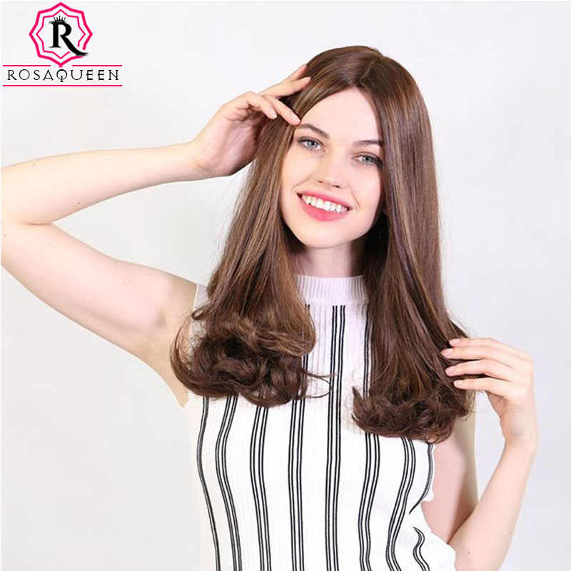 Kosher Jewish Wig Silk Base Wig Silk Top Double Drawn With Baby Hair Unprocessed European Virgin Hair Wig Rosa Queen