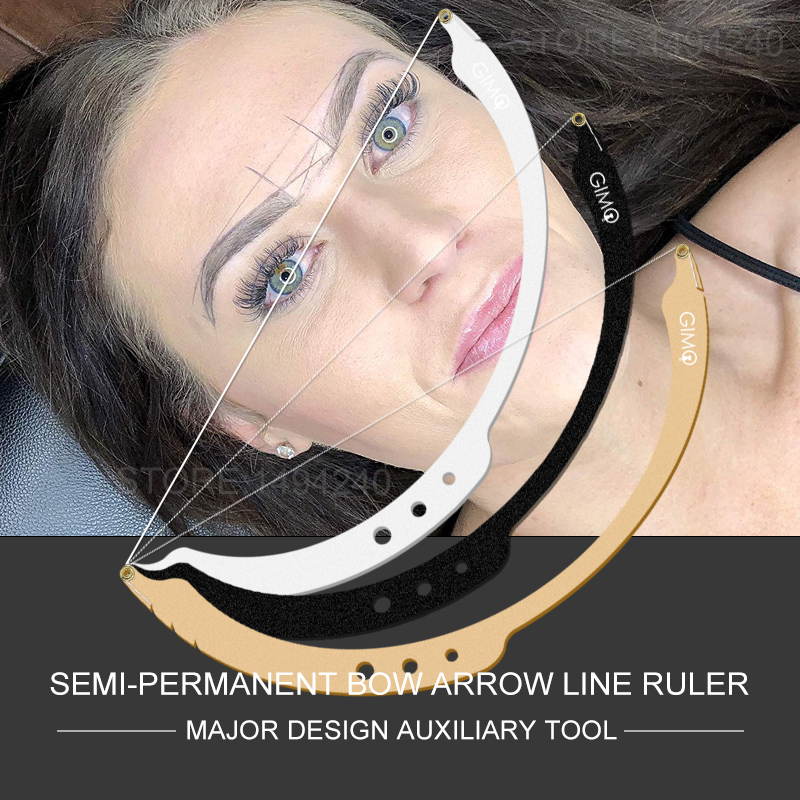 Eyebrow Positioning Semi-Permannet Line Ruler Microblading Measuring Tool Mapping String With 15pcs Liners 15 Dyeing Liners