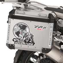 Aluminum cases Stickers Decal Travelled box panniers Luggage Side Tail Top case Fits For Benelli TRK 502 X 521 ADV TRK502