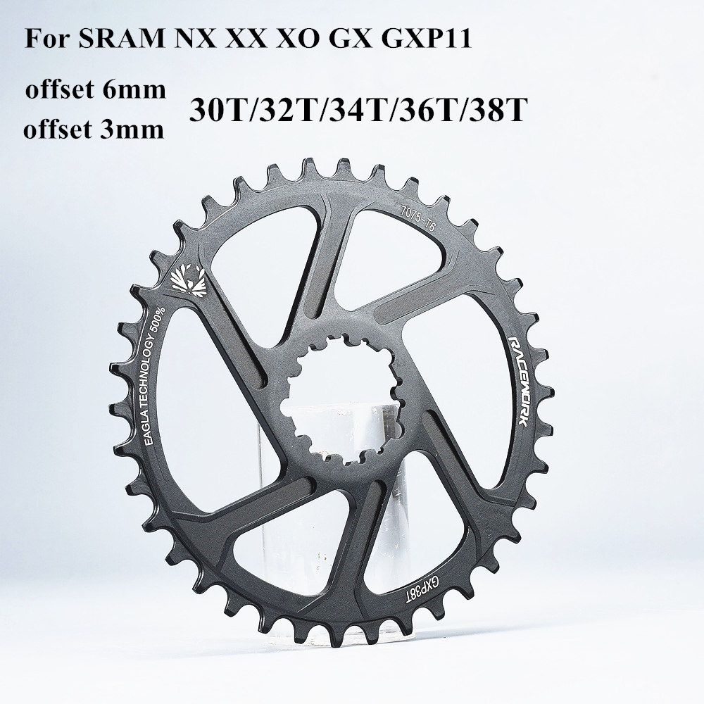 GXP Bike MTB Mountain Bike 30T/32T/34T/36T/38T Crown bicycle chainring for Sram 11/12S NX XX XO GX GXP11 single disc tray Cheap image