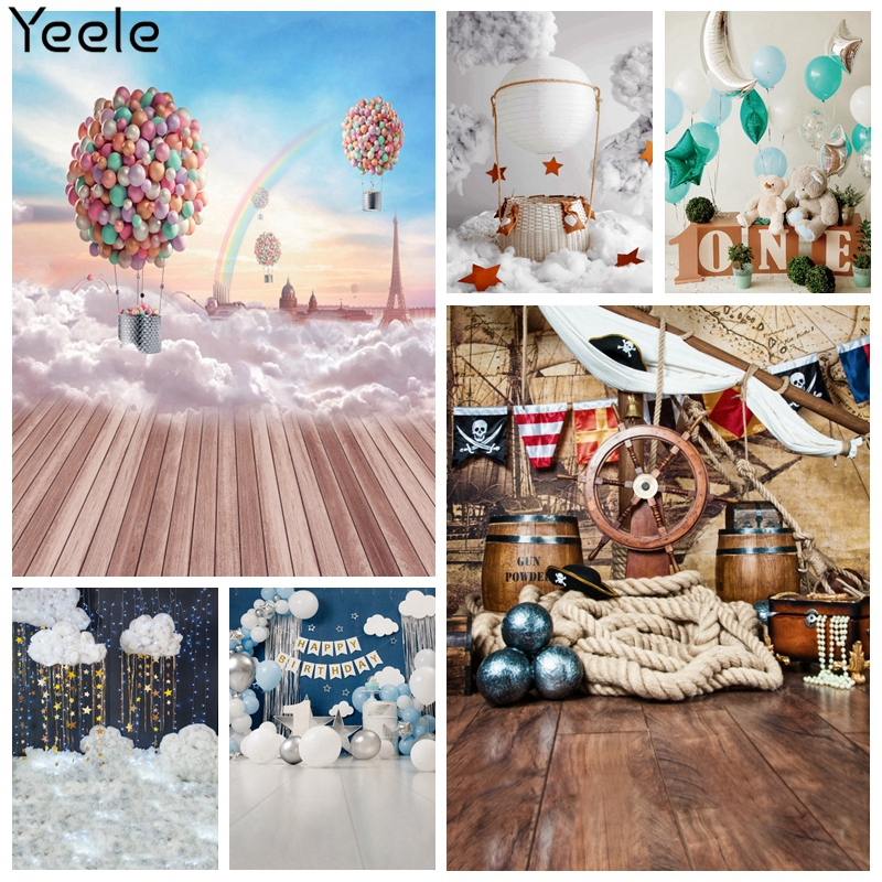 Yeele Photozone Birthday Backdrop Party Photocall Baby Shower Balloon Photography Photographic Background For Photo Studio Props