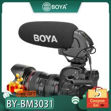 цена на BOYA BY-BM3031 Microphone Supercardioid Condenser Interview Capacitive Mic Camera Video Mic for Canon Nikon Sony DSLR Camcorder