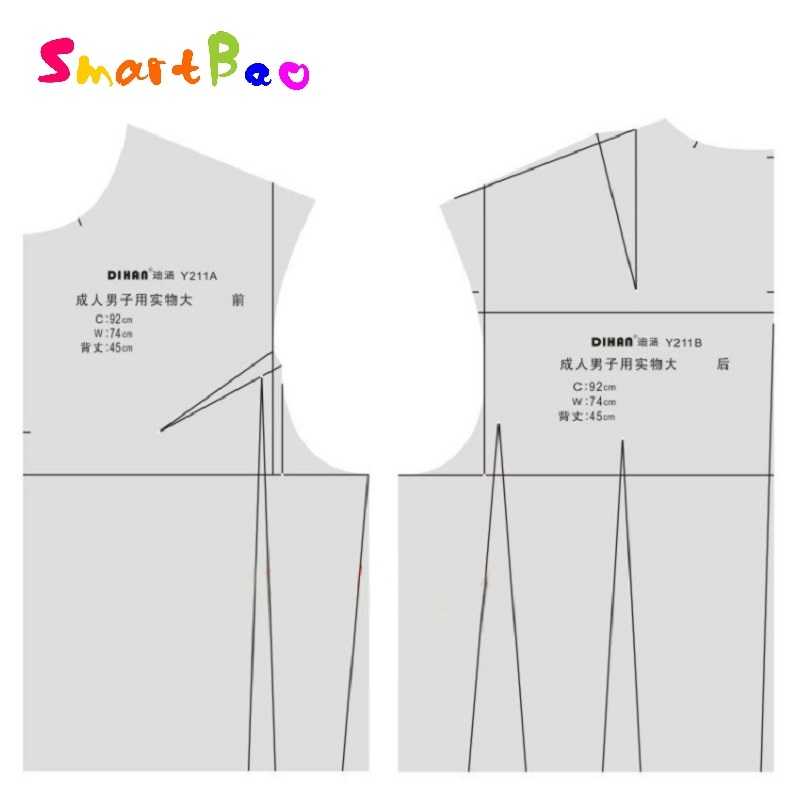 1:1 Men Fashion Design Ruler Male Cloth Prototype Drawing Template For Tailor, Sewing And Designer