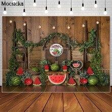 Mocsicka Summer Watermelon Farmers Market Photography Backdrops Children Birthday Cake Smash Photo Props Studio Booth Background