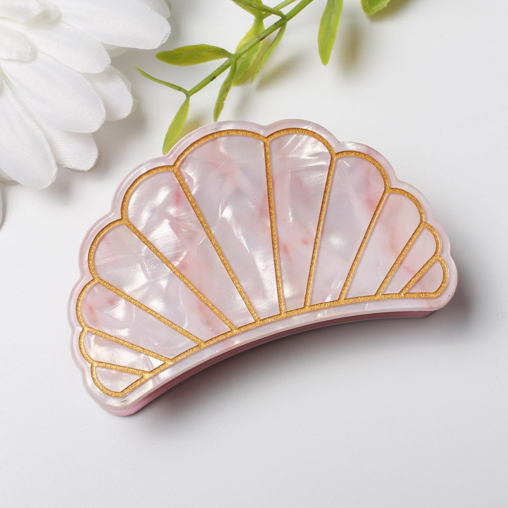 New Fashion Women Shell Hair Claws Clip Acrylic Marble Pattern Hair Clips Grips Ponytail Hairpins Hair Accessories