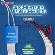 SS 905C kabel zasilający Android jeden przycisk linia kontrolna rozruchu dla Huawei Xiaomi Samsung Meizu OnePlus OPPO linia testowa przeciw oparzeniom