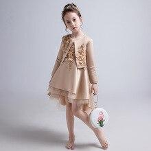 Свадебное платье для девочек; платье принцессы на день рождения для маленьких девочек; вечернее платье с цветочным узором для мальчиков и девочек; детское платье для подиумов; маленькое пианино