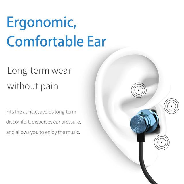 FONKEN Magnetic Wireless bluetooth Headphone XT11 Sport  Earphone Sweatproof Neckband Stero Bass Mp3 Music Earbud Gaming Headset
