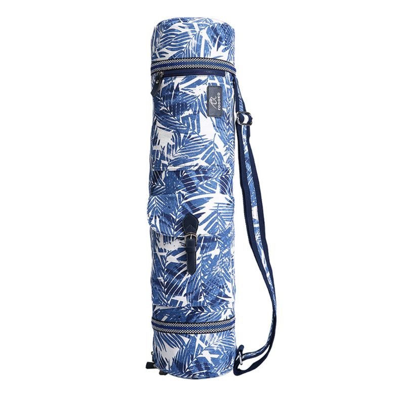 Full-Zip Exercise Yoga Mat Carry Bag Strap With Multi-Functional Storage Pockets 27RD