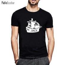 Estate nuovo Nome Nave Pirata Stampa T Shirt a Maniche Corte Magliette Cotone O-Collo di Modo Magliette e Camicette