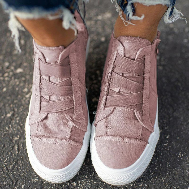 Women's Vulcanized Shoes 2020 Spring Hot Sell Slip On Solid Color Ladies Sneakers Comfortable Flat Outdoor Female Casual Shoes