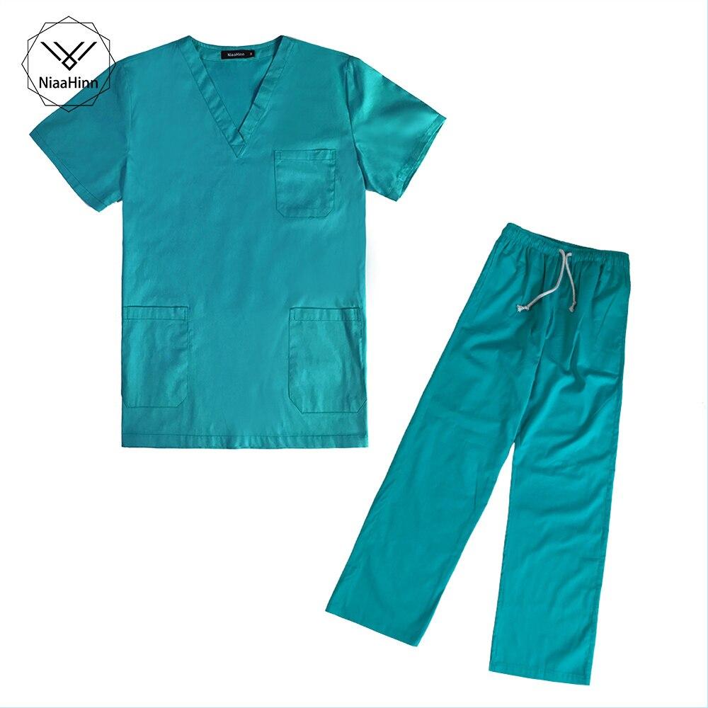 Summer Women Hospital Medical Scrub Clothes Set Fashionable Practical Design Slim Fit Dental Scrubs Beauty Salon Nurse Uniform