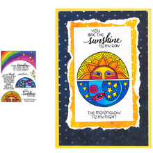 Abstract Star Moon Sunshine Rainbow Artistic Blessing Words Transparent Clear Stamps for DIY Scrapbooking Cards Crafts 2019 New