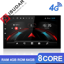 Isudar H53 4G Android 2 Din Auto Radio For Nissan/Xtrail/Tiida/Hyundai/KIA Car Multimedia GPS 8 Core RAM 4GB ROM 64GB Camera DVR цена и фото