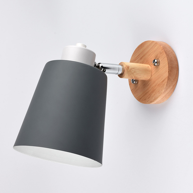 Modern Wood Wall Lamp Nordic style Indoor Lighting Bedside LED Wall Light for Children Reading Bedside Fixture Bedroom 1