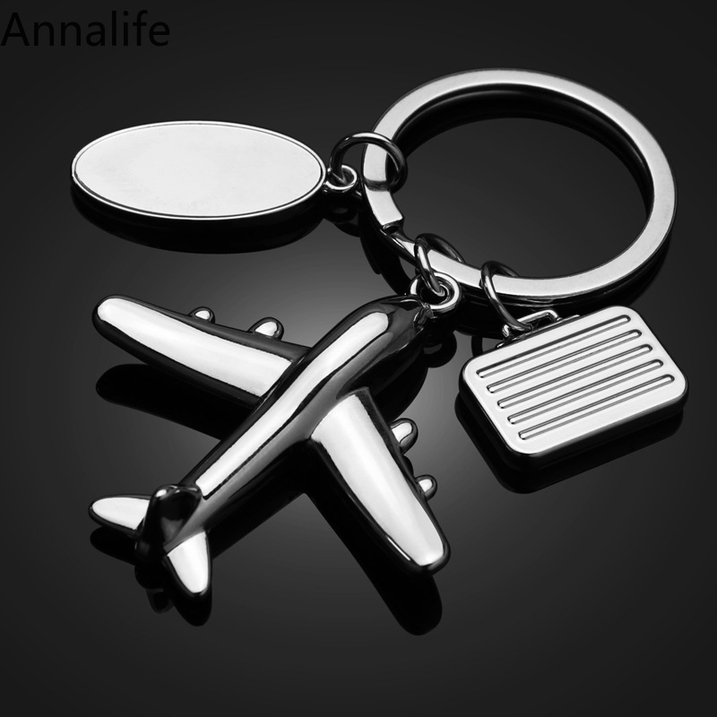 2019 New Travel-Airplane-Aircraft-Key-Chains Women Men Charm Luggage bag Pendants Car Keyring Keychain Jewelry Creative Gift image