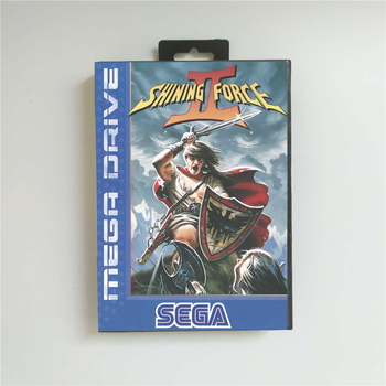 Shining Force II 2 (Battery Save) - EUR Cover With Retail Box 16 Bit MD Game Card for Megadrive Genesis Video Game Console 1