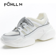 Adul Sports Shoes Female 2019Spring And Summer Sneaker New Korean Version Of The Wild  Casual Hollow Mesh Breathable Old ShoeB23