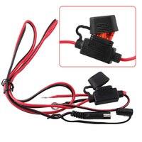 Wasserdichte Motorrad Ladegerät Kabel Adapter 12V Motorrad Inline-Sicherung Netzteil für SAE zu USB Telefon GPS MP4