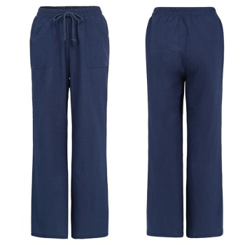 Loose Yoga Pants for Women Plus Size Trending Casual Cotton Linen Flare Trousers