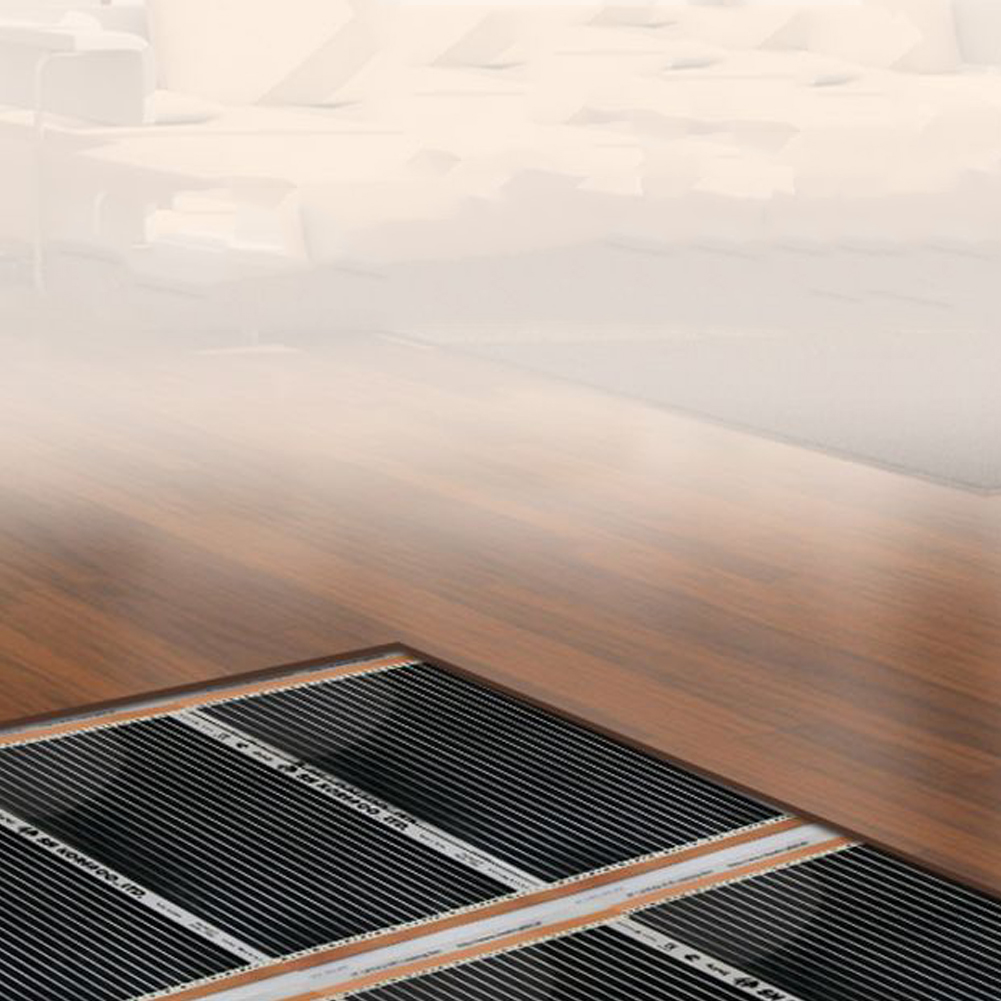 Carbon Fiber Home Heating Film Infrared Durable 220W Electrical Mute Warm Pads Black Underfloor Parts Foil Mat