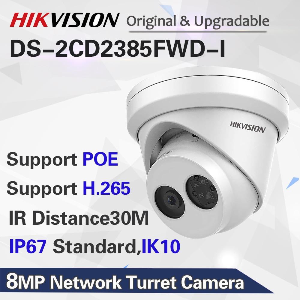 DHL EMS доставка Hikvision оригинальная ip-камера DS-2CD2385FWD-I 8MP сетевая камера видеонаблюдения H.265 CCTV безопасность POE WDR SD слот для карт