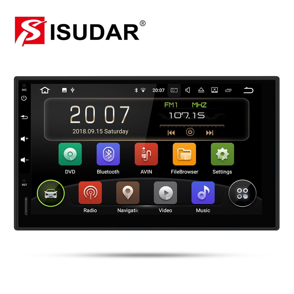 Lecteur vidéo multimédia universel de voiture d'isudar 2 Din Android 9 pour Nissan/Xtrail/Tiida/Hyundai/KIA GPS USB DVR RAM 2GB