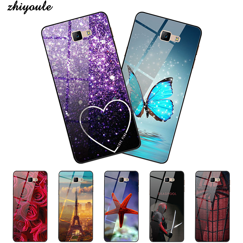 Tempered Glass Case For <font><b>Samsung</b></font> Galaxy J7 prime Cases Star Space <font><b>Samsung</b></font> <font><b>J3</b></font> <font><b>2017</b></font> J4 J6 PLUS 2018 Covers Bumper image