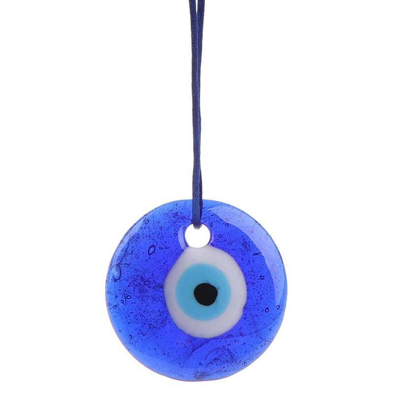 여러 크기 럭키 터키어 그리스 이블 블루 아이 매력 펜던트 선물 블루 램프 작업 유리 자동차 홈 부적 Kabbalah