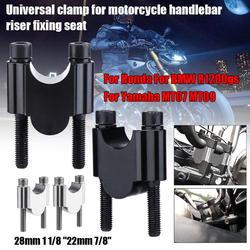 """Motorcycle Handlebar Riser Mount Universal 28mm 1 1/8"""" 22mm 7/8"""" Fit for Honda Fit For BMW R1200gs Fit for Yamaha MT07 MT09"""