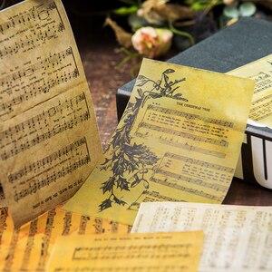16 шт., дневник, большой размер, ретро, музыкальный материал, бумага, сделай сам, скрапбукинг, альбом, неделя, украшение дневника, фоновая бумага